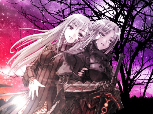 TYPE-MOON, Fate/Hollow ataraxia, Saber Alter, Dark Sakura Wallpaper