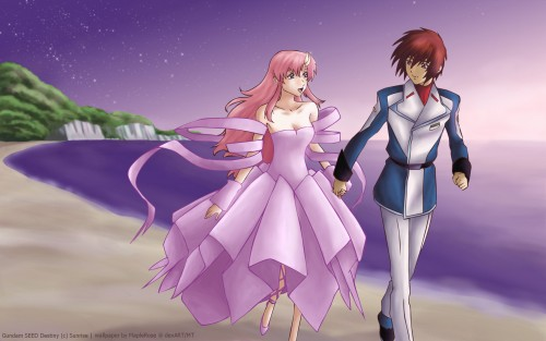 Mobile Suit Gundam SEED Destiny, Lacus Clyne, Kira Yamato Wallpaper