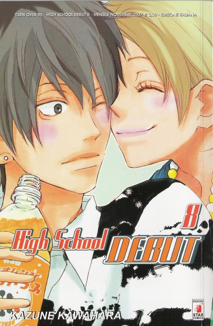 Kazune Kawahara, High School Debut, Haruna Nagashima, Yoh Komiyama, Manga Cover