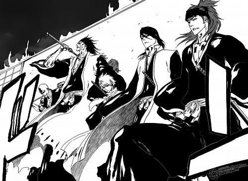 Kubo Tite, Bleach, Toshiro Hitsugaya, Byakuya Kuchiki, Ikkaku Madarame