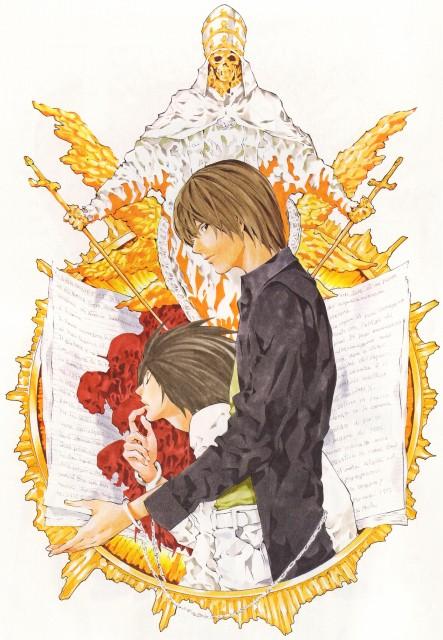 Takeshi Obata, Death Note, Blanc et Noir, L, Light Yagami