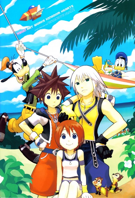 Shiro Amano, Art Works Kingdom Hearts, Kingdom Hearts, Sora, Riku