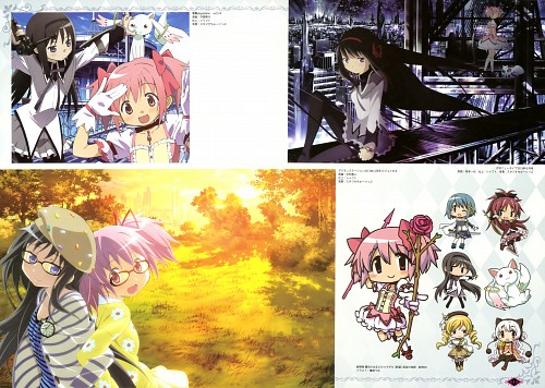 Shaft (Studio), Puella Magi Madoka Magica, Kyubey, Mami Tomoe, Sayaka Miki