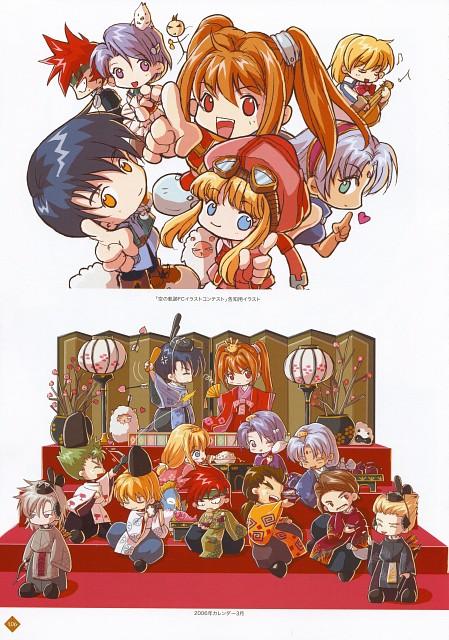 Falcom, The Legend of Heroes Illustration Artbook, The Legend of Heroes: Zero no Kiseki, The Legend of Heroes: Trails in the Sky, Scherazard Harvey