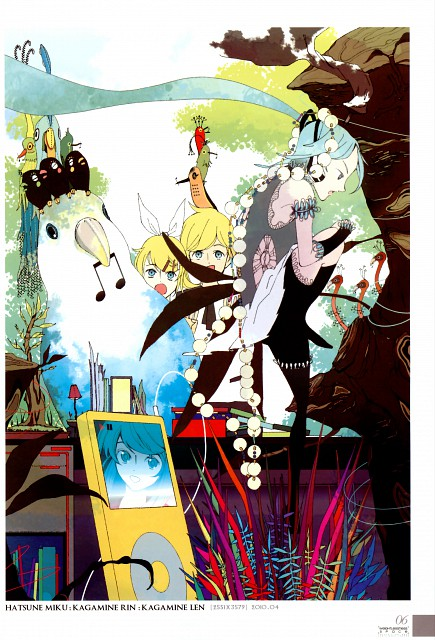 HOODOG, Weightlessness Space, Vocaloid, Len Kagamine, Miku Hatsune