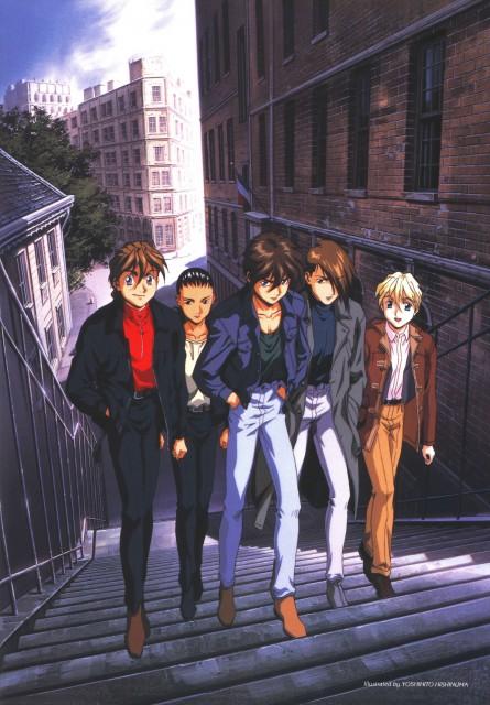 Mobile Suit Gundam Wing, Chang Wufei, Duo Maxwell, Heero Yuy, Trowa Barton