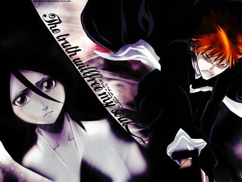 Kubo Tite, Studio Pierrot, Bleach, Rukia Kuchiki, Ichigo Kurosaki Wallpaper