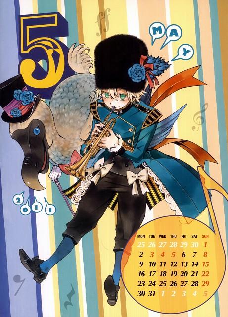 Jun Mochizuki, Xebec, Pandora Hearts, Pandora Hearts Calendar 2011, Oz Vessalius