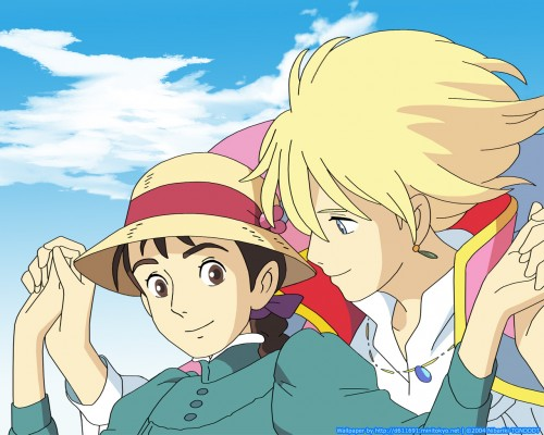 Studio Ghibli, Howl's Moving Castle, Sophie Hatter, Howl Jenkins, Vector Art