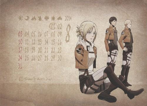 Hajime Isayama, Production I.G, Shingeki no Kyojin, Shingeki no Kyojin School Calendar 2014, Annie Leonhardt