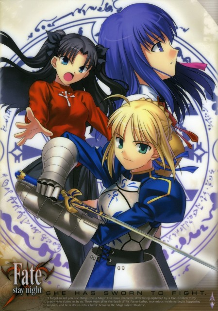TYPE-MOON, Fate/stay night, Sakura Matou, Rin Tohsaka, Saber