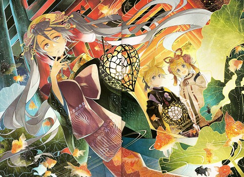 Jagabata, Vocaloid, Len Kagamine, Rin Kagamine, Miku Hatsune