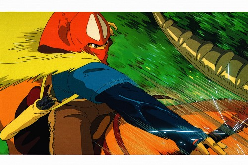 Studio Ghibli, Princess Mononoke, Princess Mononoke Postcard Collection, Yakul, Ashitaka