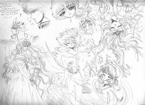 CLAMP, Magic Knight Rayearth, Hikaru Shidou, Zagato, Fuu Hououji