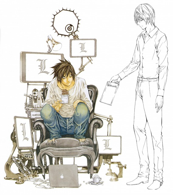 Takeshi Obata, Death Note, Light Yagami, L