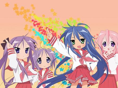 Lucky Star, Konata Izumi, Tsukasa Hiiragi, Miyuki Takara, Kagami Hiiragi Wallpaper