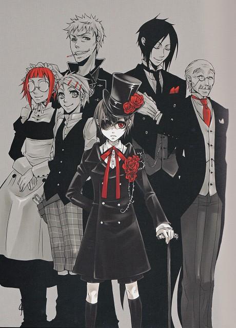 Yana Toboso, Kuroshitsuji, Black Butler Artworks 1, Ciel Phantomhive, Finnian