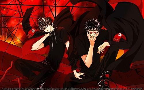 CLAMP, X, Kamui Shirou, Fuuma Monou, Collaboration Wallpaper