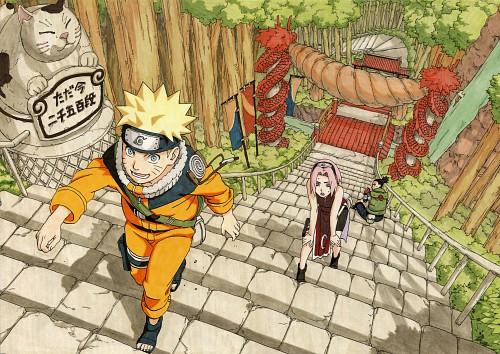 Masashi Kishimoto, Naruto, NARUTO Illustrations, Shikamaru Nara, Sakura Haruno