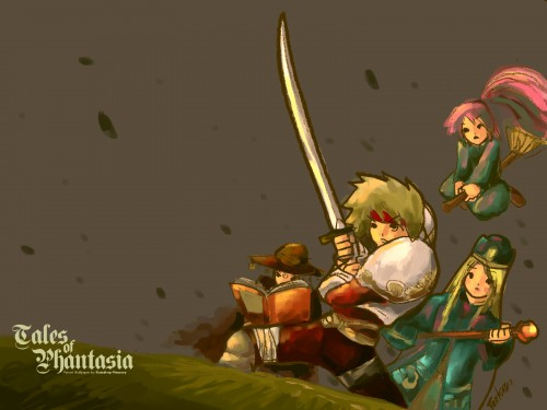 Namco, Tales of Phantasia, Cless Alvein, Mint Adnade, Arche Klaine Wallpaper