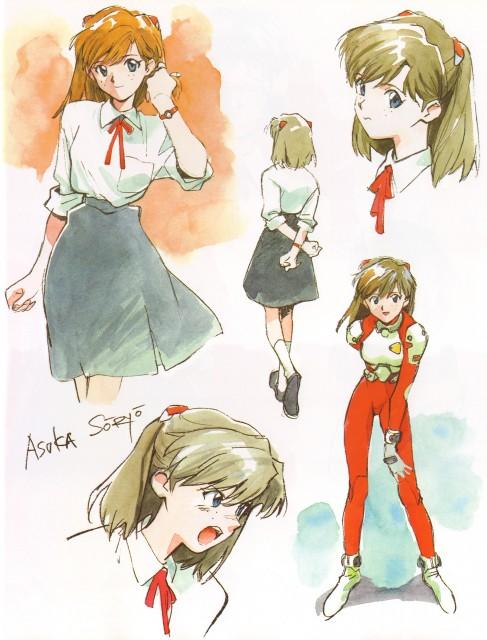 Yoshiyuki Sadamoto, Neon Genesis Evangelion, Der Mond, Asuka Langley Soryu