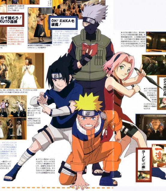 Studio Pierrot, Naruto, Kakashi Hatake, Sakura Haruno, Sasuke Uchiha