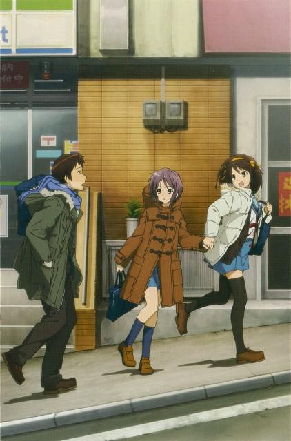 Kyoto Animation, The Melancholy of Suzumiya Haruhi, Yuki Nagato, Kyon, Haruhi Suzumiya