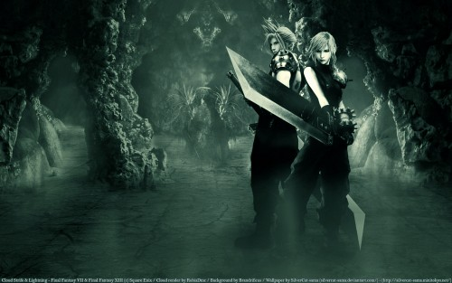 Final Fantasy XIII, Lightning (FF XIII), Cloud Strife Wallpaper