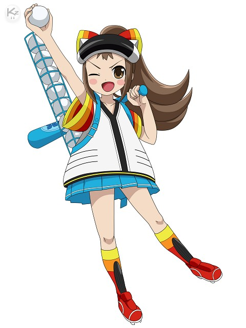 Sega, TMS Entertainment, Sega Hard Girls, Robo Pitcher, Vector Art