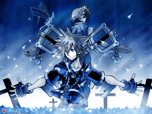 Square Enix, Kingdom Hearts, Roxas, Sora Wallpaper