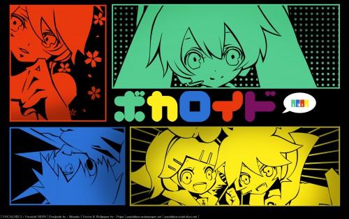 Shimeko, Landmark (Artbook), Vocaloid, Meiko, Len Kagamine Wallpaper