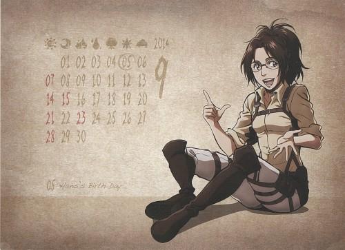 Hajime Isayama, Production I.G, Shingeki no Kyojin, Shingeki no Kyojin School Calendar 2014, Hange Zoe