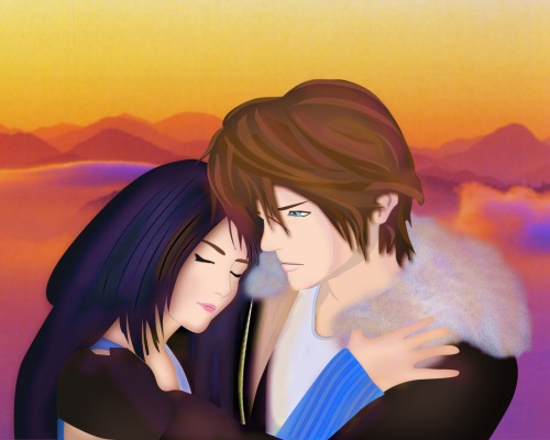 Square Enix, Final Fantasy VIII, Squall Leonhart, Rinoa Heartilly Wallpaper