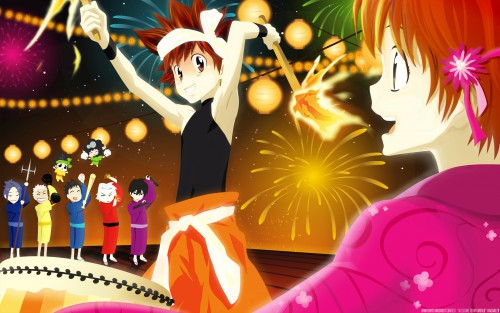 Akira Amano, Katekyo Hitman Reborn!, Reborn (Character), Kyoko Sasagawa, Mukuro Rokudo Wallpaper