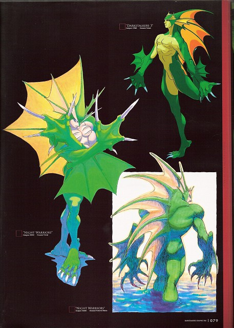 Capcom, Darkstalkers Graphic File, Dark Stalkers, Rikuo