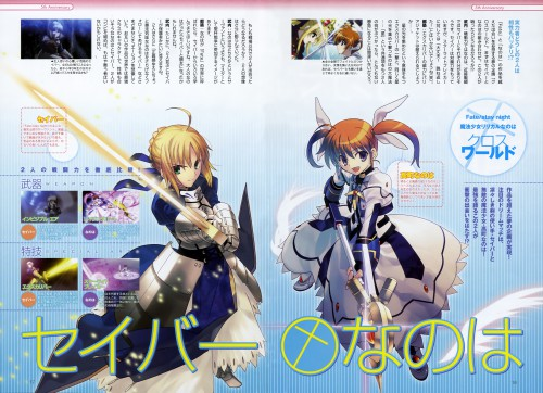Takashi Takeuchi, TYPE-MOON, Mahou Shoujo Lyrical Nanoha, Fate/stay night, Nanoha Takamachi