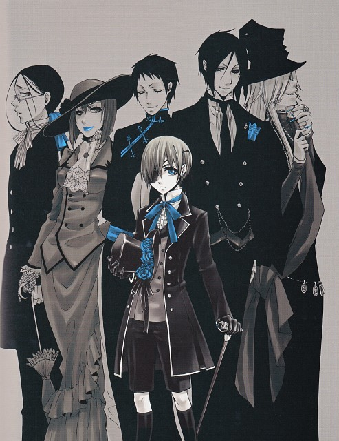 Yana Toboso, Kuroshitsuji, Black Butler Artworks 1, Undertaker, Ciel Phantomhive