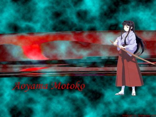 Ken Akamatsu, Love Hina, Motoko Aoyama Wallpaper