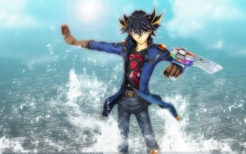 Kazuki Takahashi, Studio Gallop, Yu-Gi-Oh! 5D's, Yusei Fudo Wallpaper