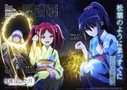 P.A. Works, Kamisama ni Natta hi, Sora Narukami, Hina Satou (Kamisama ni Natta hi), Kyouko Izanami
