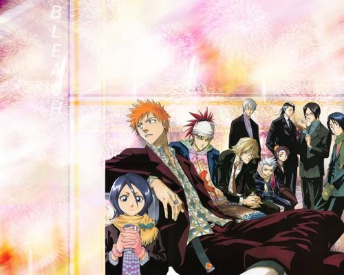 Kubo Tite, Studio Pierrot, Bleach, Hanatarou Yamada, Renji Abarai Wallpaper