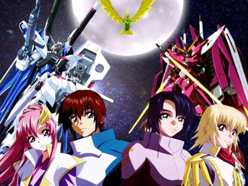 Sunrise (Studio), Mobile Suit Gundam SEED, Lacus Clyne, Cagalli Yula Athha, Athrun Zala Wallpaper