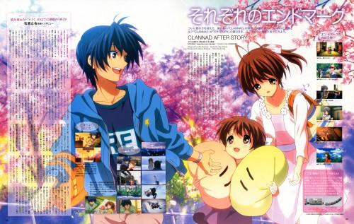 Miku Kadowaki, Clannad, Tomoya Okazaki, Ushio Okazaki, Nagisa Furukawa