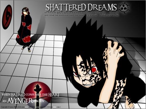 Masashi Kishimoto, Studio Pierrot, Naruto, Sasuke Cursed Seal, Itachi Uchiha Wallpaper