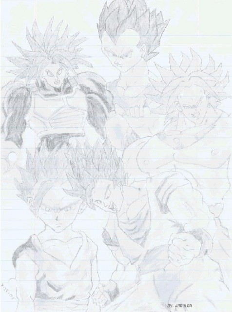 Akira Toriyama, Dragon Ball, Super Saiyan Trunks, Vegeta, Broly
