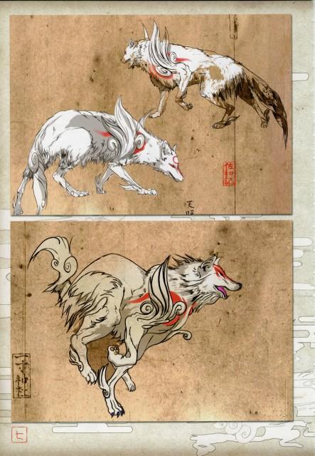 Capcom, Okami Official Illustrations Collection, Okami, Amaterasu
