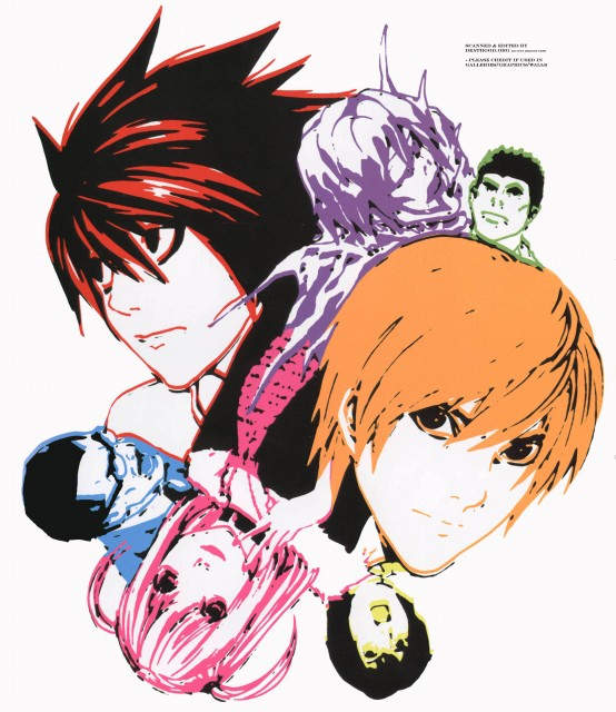 Takeshi Obata, Death Note, Blanc et Noir, Light Yagami, Soichiro Yagami