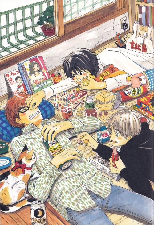 Chika Umino, Honey and Clover, Shinobu Morita, Takumi Mayama, Yuuta Takemoto