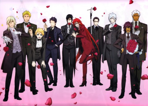 A-1 Pictures, Kuroshitsuji, William T. Spears, Bardroy, Grell Sutcliff
