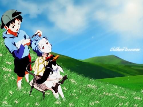 Yoshiyuki Sadamoto, Neon Genesis Evangelion, Rei Ayanami, Kaworu Nagisa Wallpaper